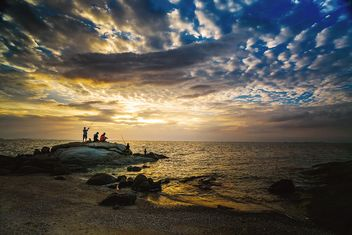 Sunset on Pattaya beach - image #186109 gratis