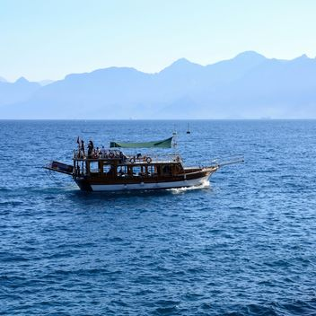 Boat in sea, Antalya - Free image #186279