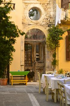 Outdoors restaurant, Crete Island - Free image #186759