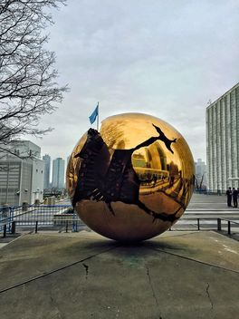 Globe Statue in New York - Free image #186839