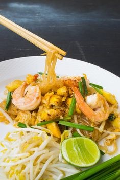 shrimps pad Thai #thaifood - бесплатный image #187029