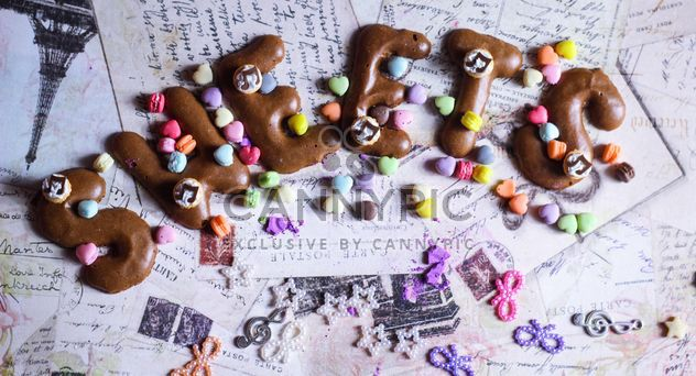 Word sweets from chocolate cookies - image #187199 gratis