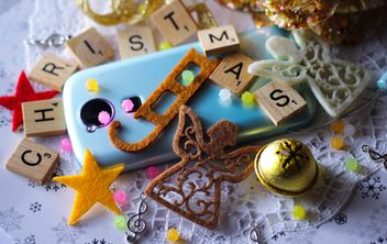 Christmas decoration of smartphone - Kostenloses image #187339