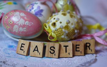 Easter egg and alphabet words - image gratuit #187449