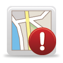 Map Warning - icon gratuit #189779
