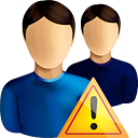 Users Warning - Kostenloses icon #190589