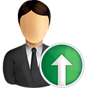 Business User Up - icon gratuit #190829