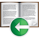 Book Previous - Free icon #191059