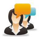 Businesswomen Comments - icon gratuit #192059