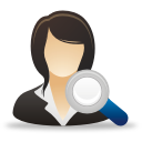 Search Businesswoman - icon gratuit #192069