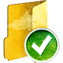 Folder Accept - icon gratuit #194229