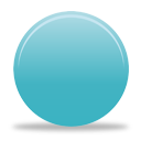 Turquoise Button - Free icon #194339