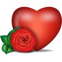 Heart And Rose - icon gratuit #194349