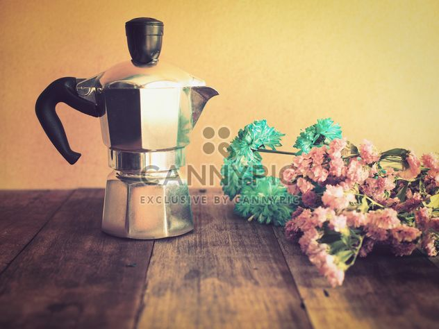 Moka pot in vintage color - image #194379 gratis