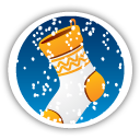 Merry Christmas Stocking - icon gratuit #194659