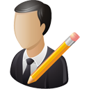 Business User Edit - Free icon #195209