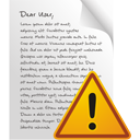 Page Warning - icon gratuit #195579