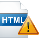 ADVERTENCIA de página HTML - icon #196309 gratis