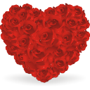 Heart Of Roses - Free icon #196439