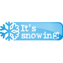 Its Snowing Button - icon #197109 gratis