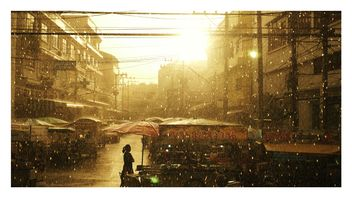 Sunset on raining day - бесплатный image #197909