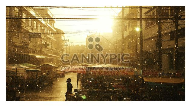 Sunset on raining day - Free image #197909