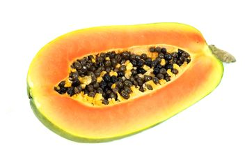 Papaya white background - бесплатный image #197959