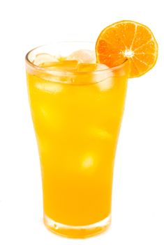 Orange juice on white background - Free image #198059