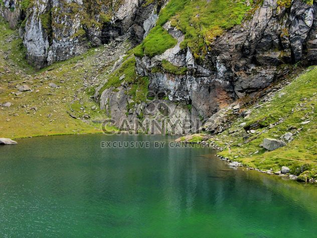 Green water lake in Carphatians mountains - Free image #198139