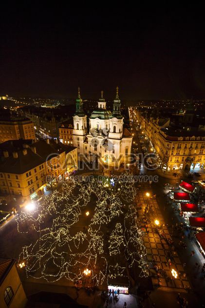 square at night in czech republic - Free image #198639