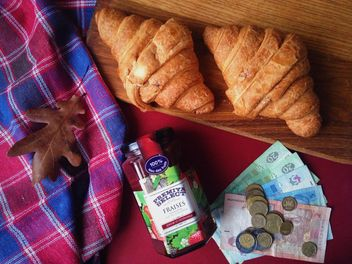 Raspberry jam and two croissant - image #198829 gratis