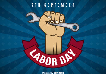 Labor day background - vector gratuit #199229