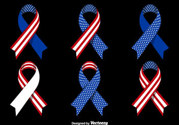 Patriotic ribbons - бесплатный vector #199239