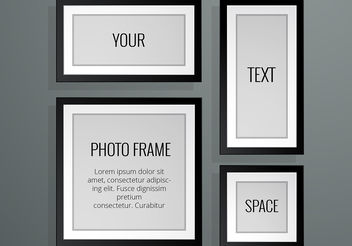 Realistic Photo Frame Vectors - vector gratuit #199249