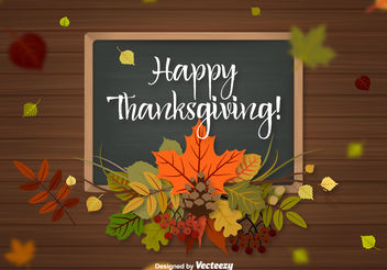 Thanksgiving Background Vector - Free vector #199279