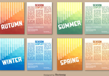 Seasonal leaflet template - vector gratuit #199289
