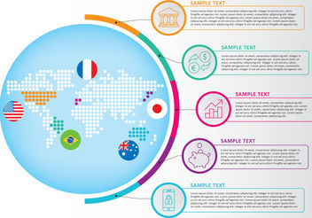 Map Infography Vector - Free vector #199319