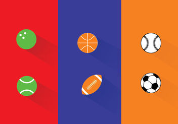 Sports Ball Vectors - vector gratuit #199399