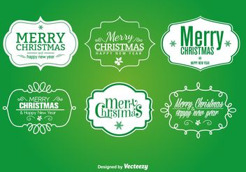 Christmas signs and labels - vector gratuit #199449