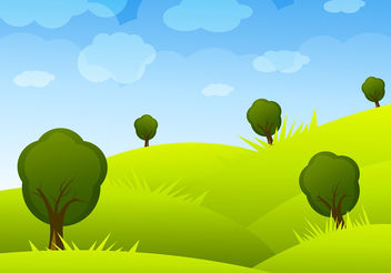 Cartoon Landscape Vector - Free vector #199499
