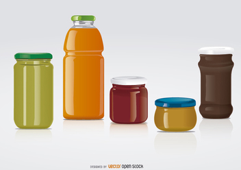 glass jars for label mock ups - vector #199519 gratis