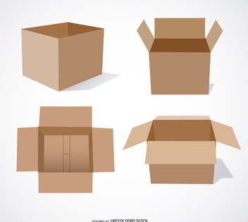 Cardboard boxes - Free vector #199539