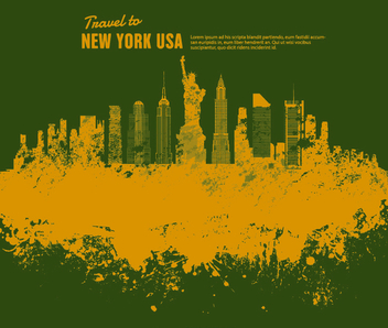 New York Grunge landscape - Free vector #199589