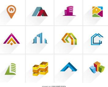 Real Estate Colorful Logo Set - Free vector #199599
