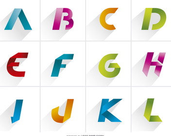 Logo Letters element pack - Free vector #199609