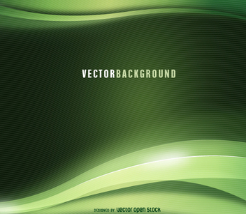 Green abstract wavy background - vector gratuit #199619