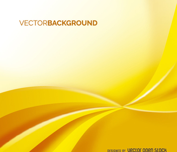 Yellow swirl background - vector gratuit #199659