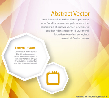 Abstract yellow brochure cover template - vector #199669 gratis