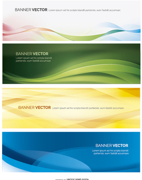 Abstract banner set - Free vector #199679