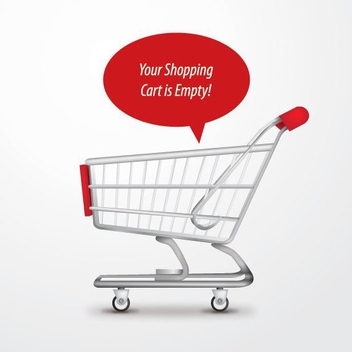 Empty Shopping Cart Background - Free vector #199819